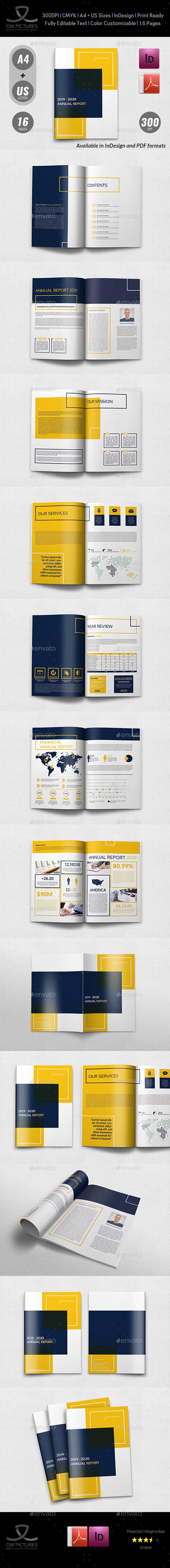 Annual Report Brochure Template Vol.2 - Brochures Print Templates