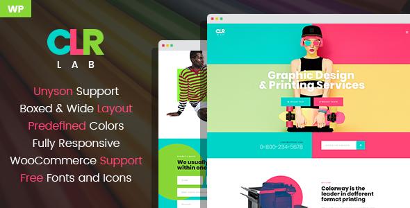 ColorLab - Printing Design Service WordPress Theme