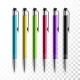 Design Set of Realistic Colored Pens - GraphicRiver Item for Sale