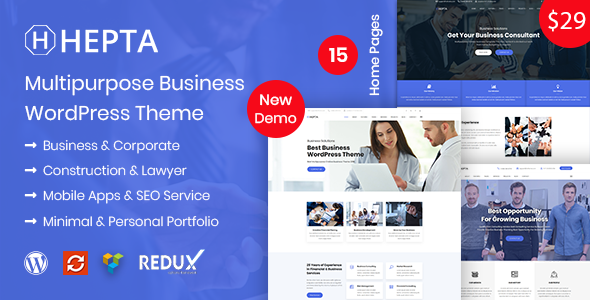 Image of Hepta - Multipurpose Business WordPress Theme