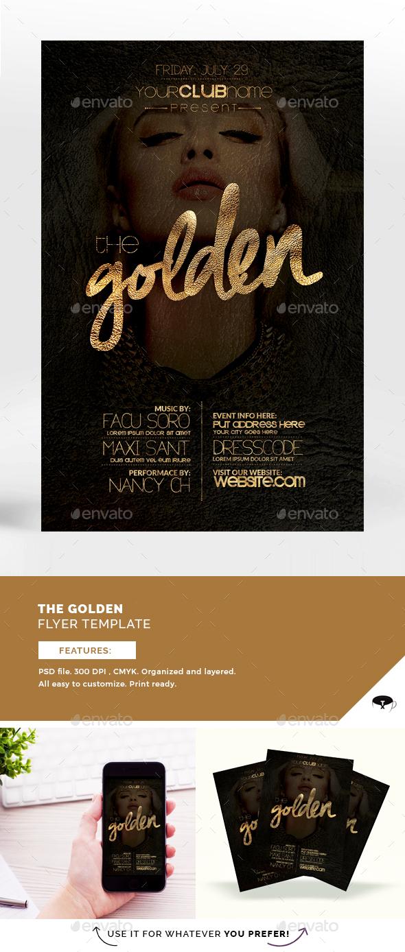 The Golden Flyer Template - Flyers Print Templates