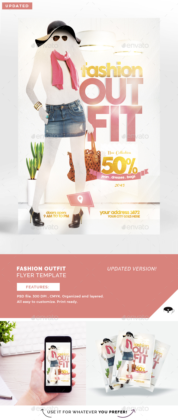 Fashion Outfit Flyer Template - Flyers Print Templates