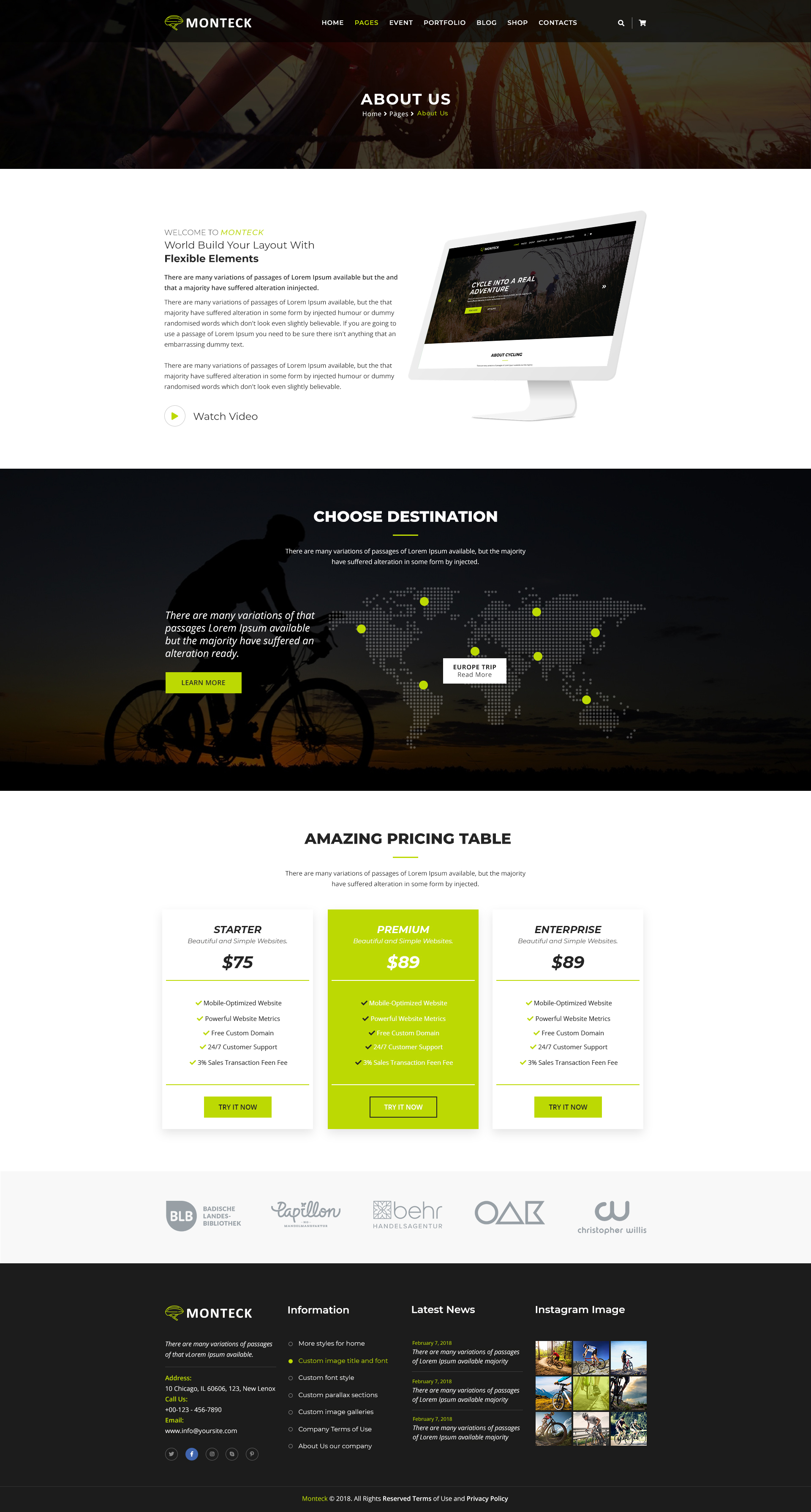 Monteck Sports Club Html Template By Brotherslab Themeforest