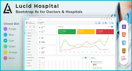 Lucid Hospital - Powerful Bootstrap 4 Hospital Admin Template
