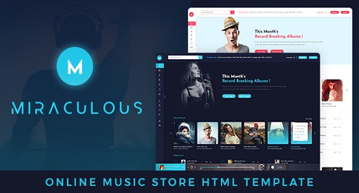 Miraculous Online Music Store HTML Template