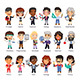 Teachers Flat Cartoon Characters - GraphicRiver Item for Sale