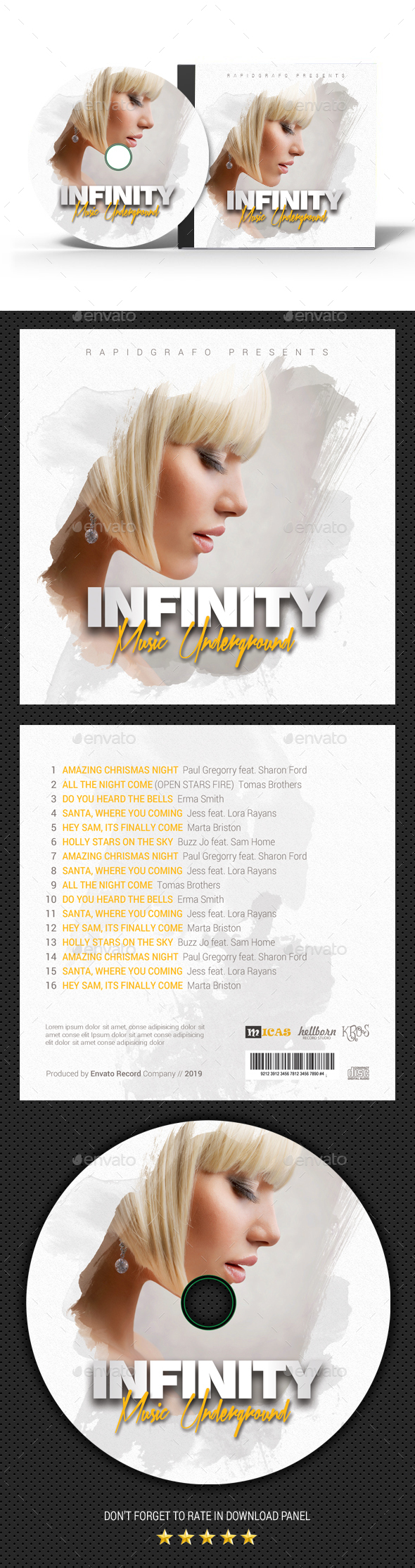Infinity Music CD Cover - CD & DVD Artwork Print Templates