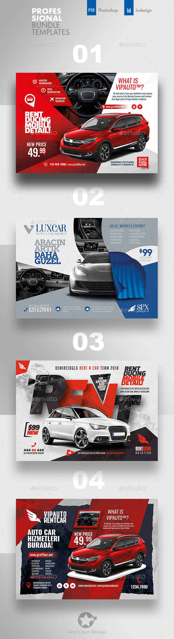 Rent A Car Flyer Bundle Templates - Corporate Flyers