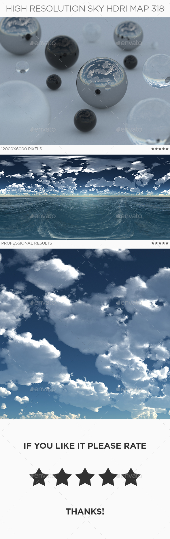 High Resolution Sky HDRi Map 318 - 3DOcean Item for Sale