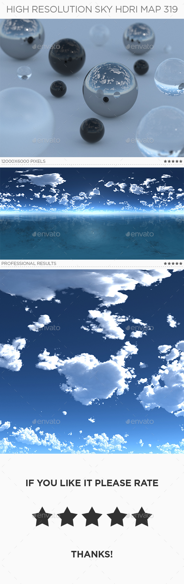 High Resolution Sky HDRi Map 319 - 3DOcean Item for Sale