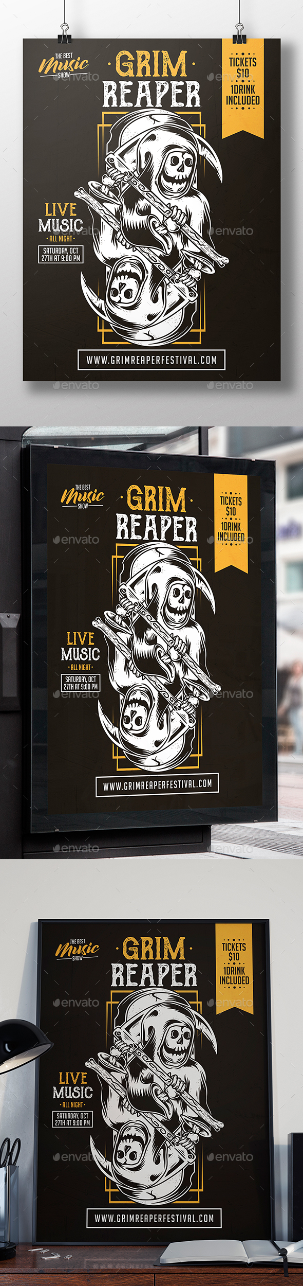 Grim Reaper Flyer Template - Concerts Events
