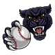 Black Panther Holding Baseball Ball Mascot - GraphicRiver Item for Sale
