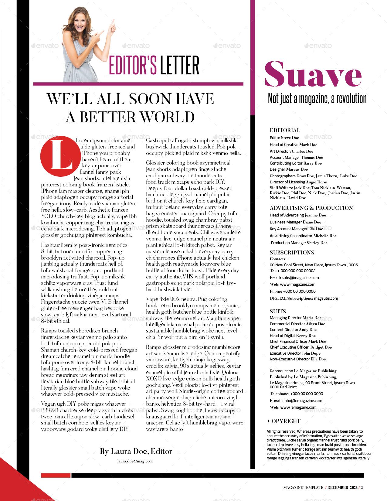 Magazine Template by Eliasmwangi | GraphicRiver