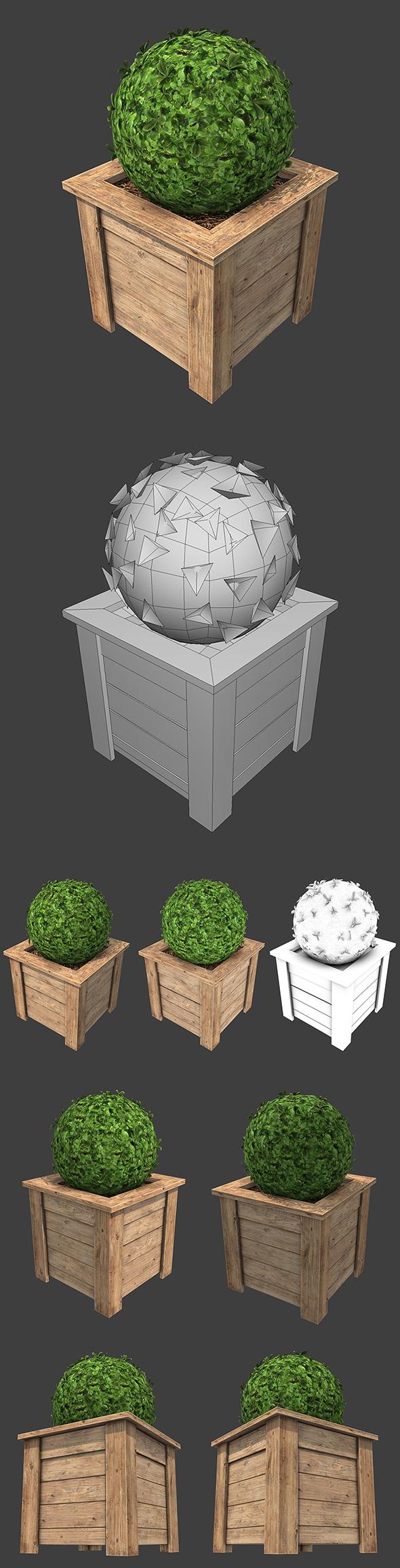 Flower Bed - 3DOcean Item for Sale