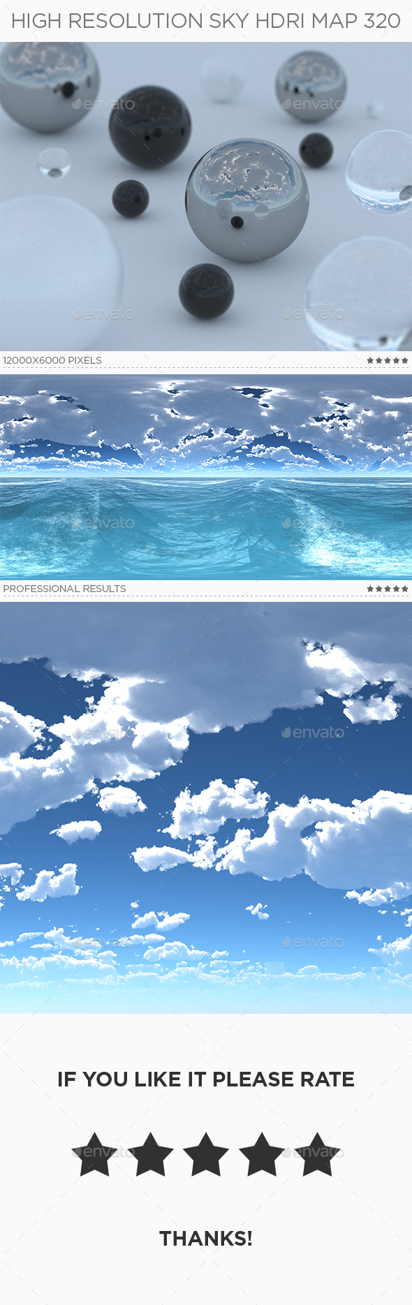 High Resolution Sky HDRi Map 320 - 3DOcean Item for Sale