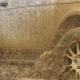Beautiful Car in Rough Terrain. A Powerful SUV Is Towed in a Deep Puddle. Extreme Driving Conditions - VideoHive Item for Sale