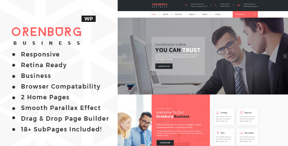 Image of Orenburg - Business Consulting WordPress Theme