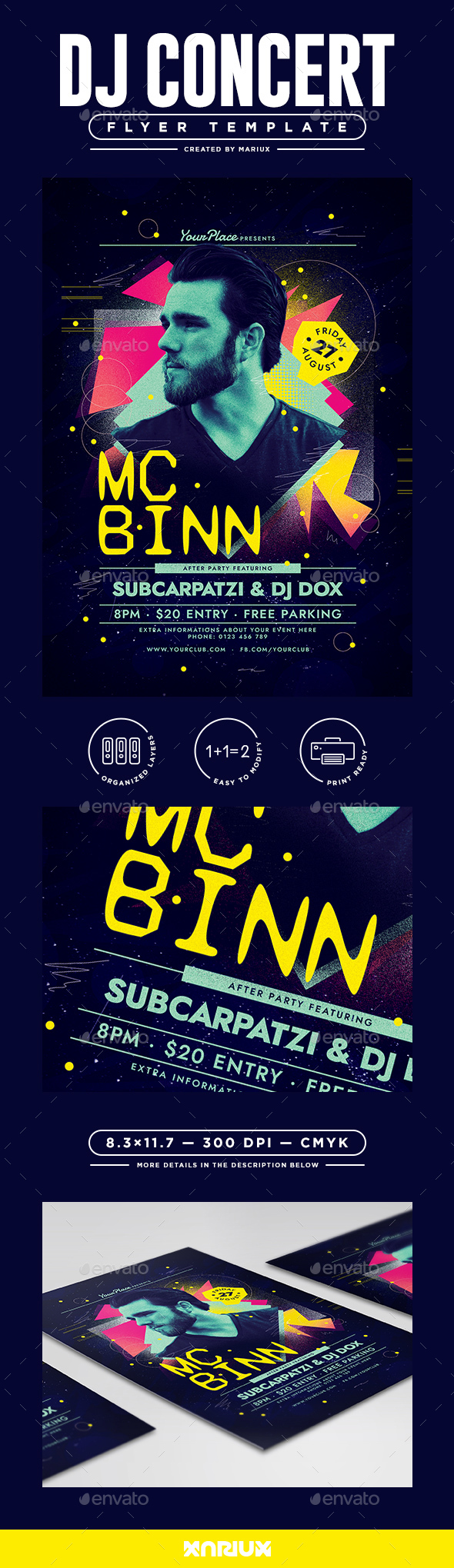 DJ Concert Flyer Template - Clubs & Parties Events