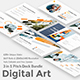 Digital Art 3 in 1 Pitch Deck Bundle Keynote Template - GraphicRiver Item for Sale