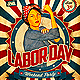 Retro Labor Day Weekend Party Flyer - GraphicRiver Item for Sale