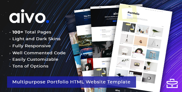 Aivo - Multipurpose Portfolio HTML Website Template - Portfolio Creative