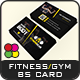 Fitness / Gym Business Card Template - GraphicRiver Item for Sale