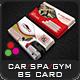 Gym, Spa & Car Business Card Templates - GraphicRiver Item for Sale