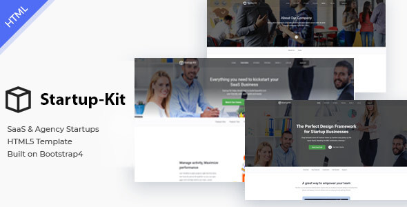 Startup Kit - SaaS Startup and Agency Bootstrap4 Template
