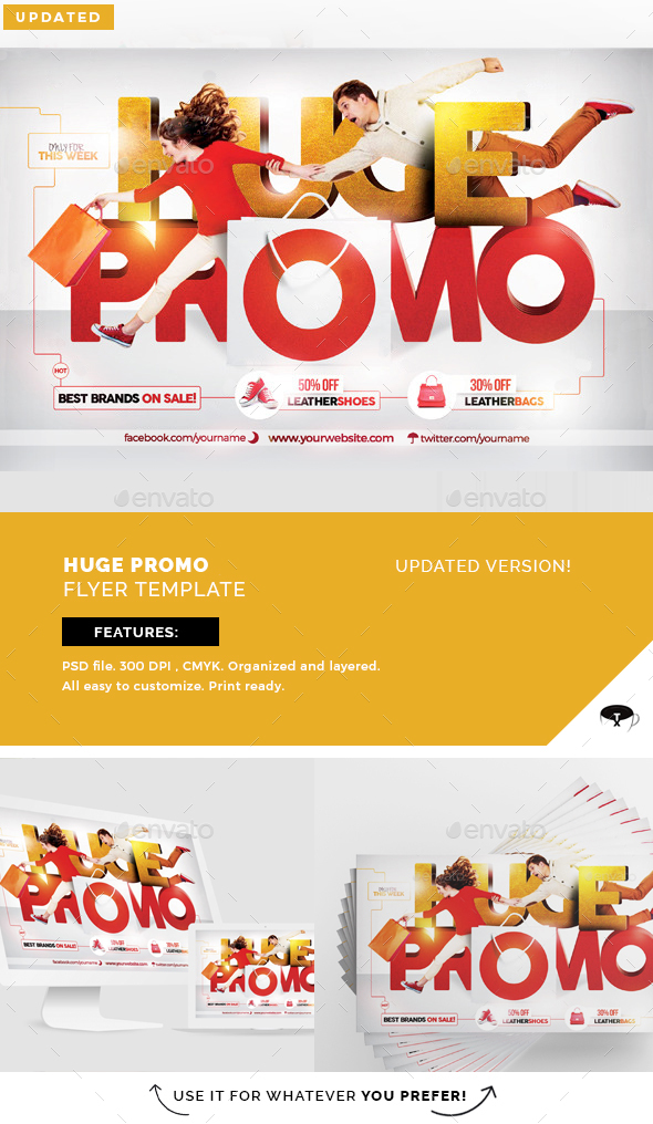 Huge Promo Flyer Template - Flyers Print Templates