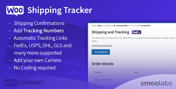 WooCommerce Shipping Tracker - Let Your Customers Track Their Shipments! - CodeCanyon Item for Sale