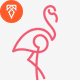 Flamingo Logo - GraphicRiver Item for Sale