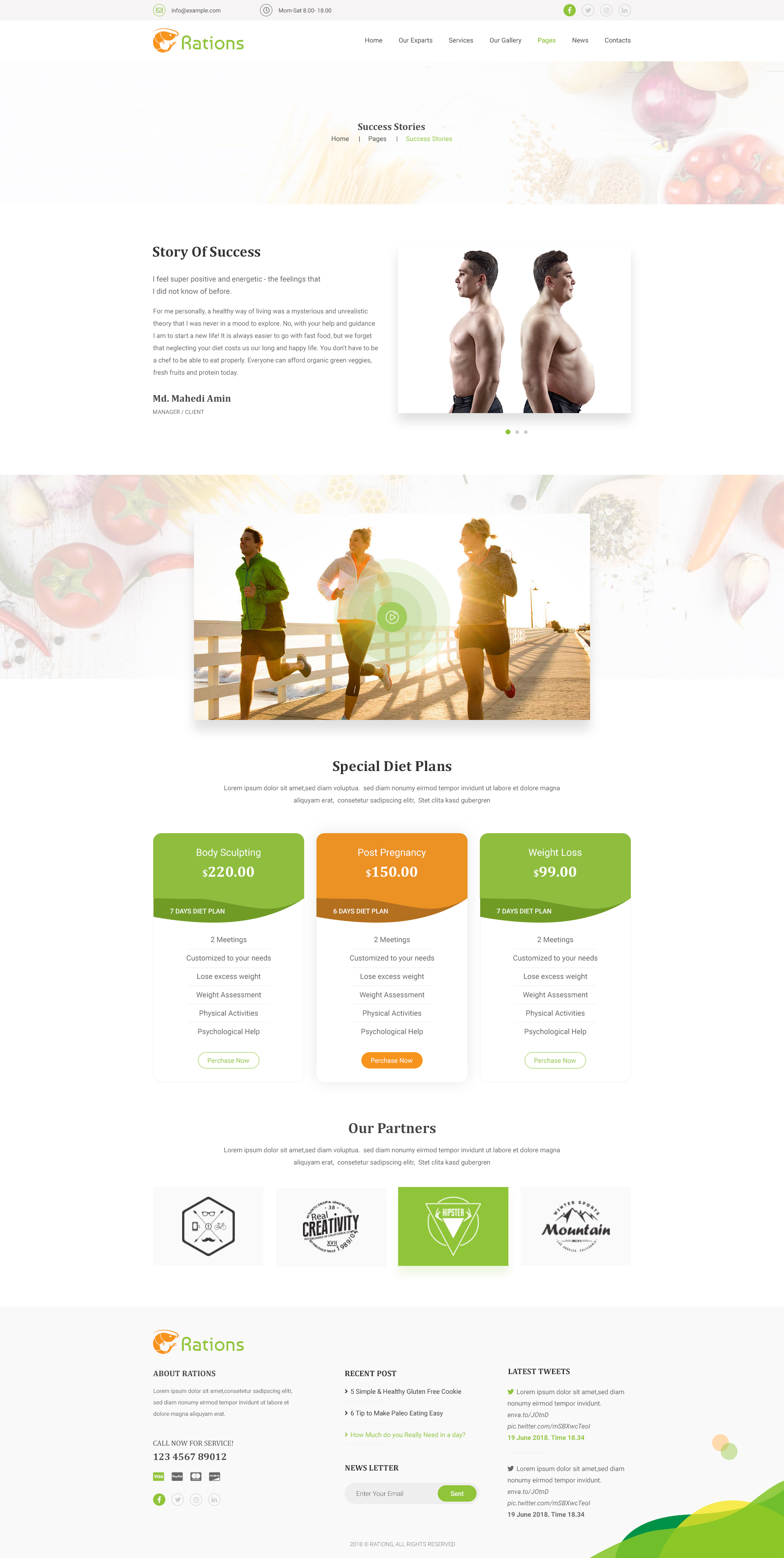 Ration Psd Weight Loss Nutrition Health Care Diet Template By