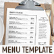 Menu Template - GraphicRiver Item for Sale