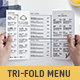 Trifold Menu Template - GraphicRiver Item for Sale
