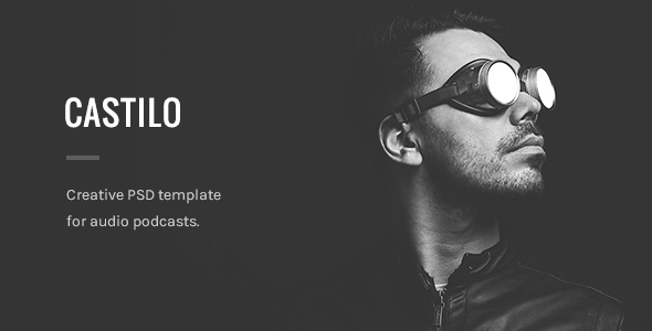 Castilo - Audio Podcast PSD Template - Film & TV Entertainment