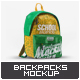 School Backpacks Mock-Up - GraphicRiver Item for Sale