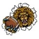 Lion American FootballBreaking Background