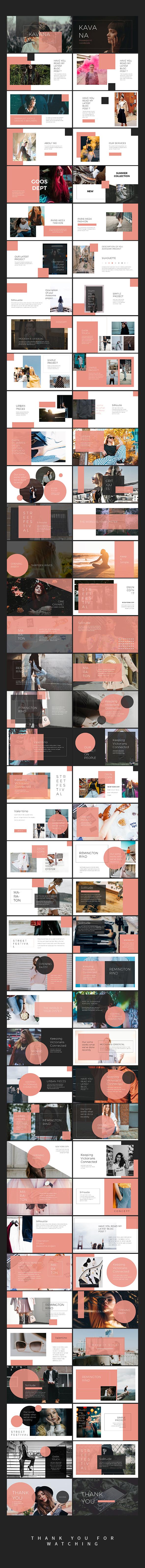 Kavana Lookbook Powerpoint Templates - Creative PowerPoint Templates