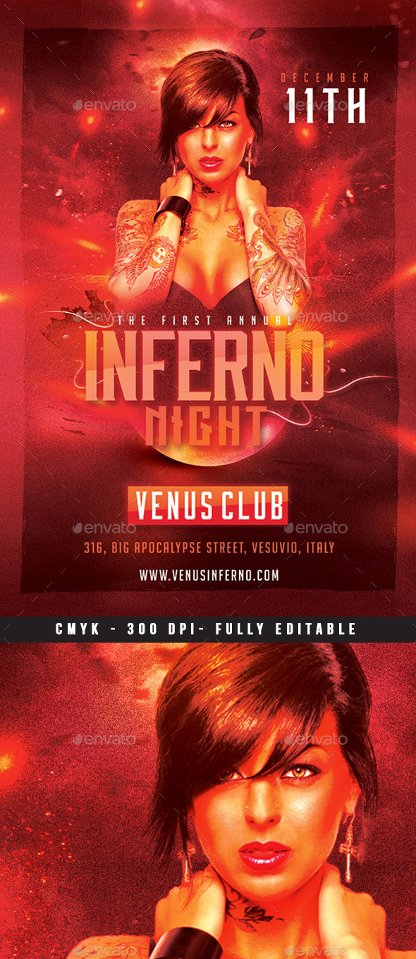 Inferno Night Flyer - Clubs & Parties Events