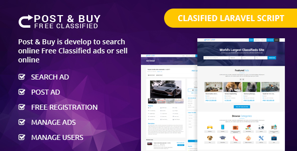 post and buy classified ads listings codecanyon item for sale