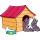 Puppy Sleeping in Doghouse - GraphicRiver Item for Sale