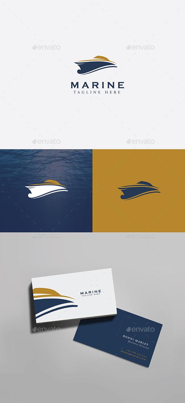Yacht Marine Logo - Objects Logo Templates