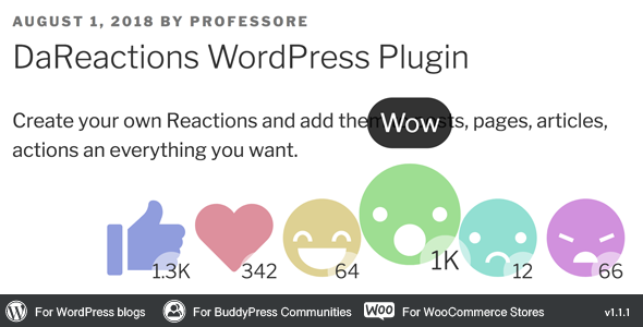 Reactions WordPress Plugin            Nulled