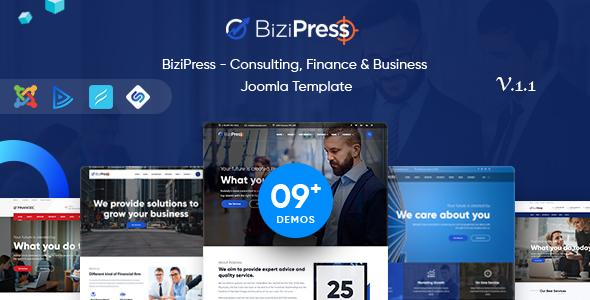 Image of BiziPress - Multipurpose Joomla Business Template