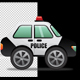 Police Car Cartoon - VideoHive Item for Sale