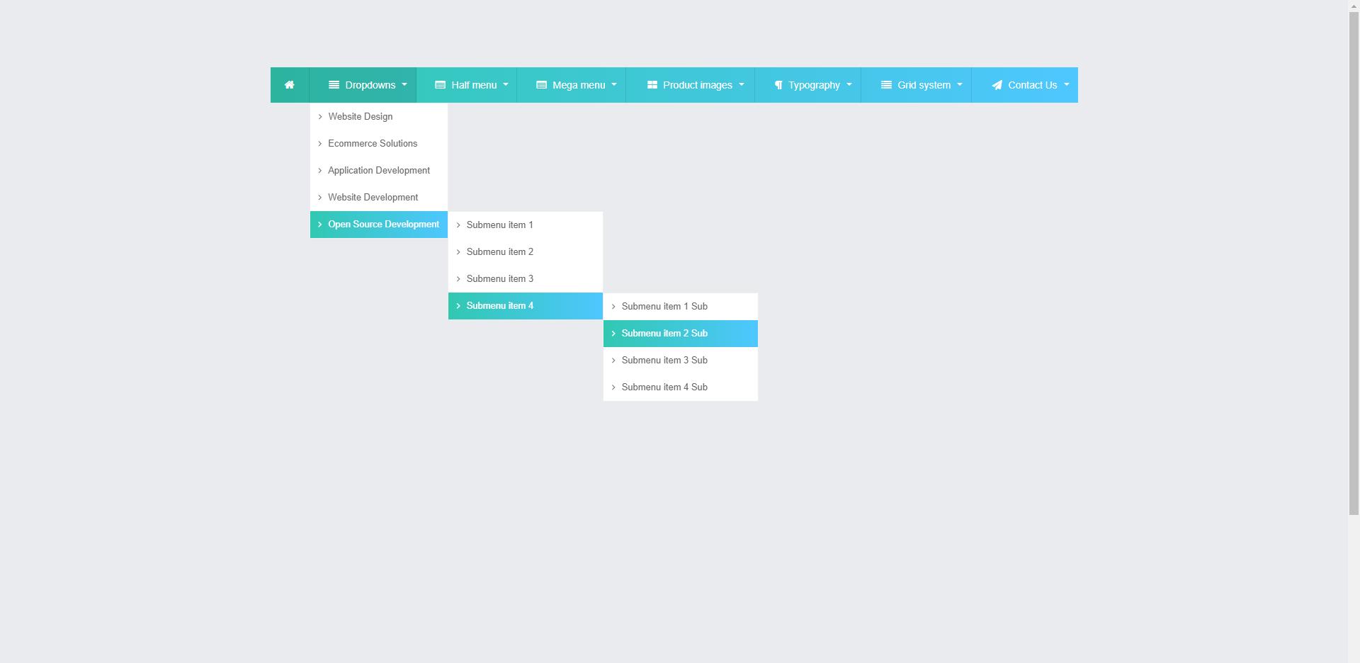 Web Slide - Responsive Megamenu Navigation Sub Dropdown Menu