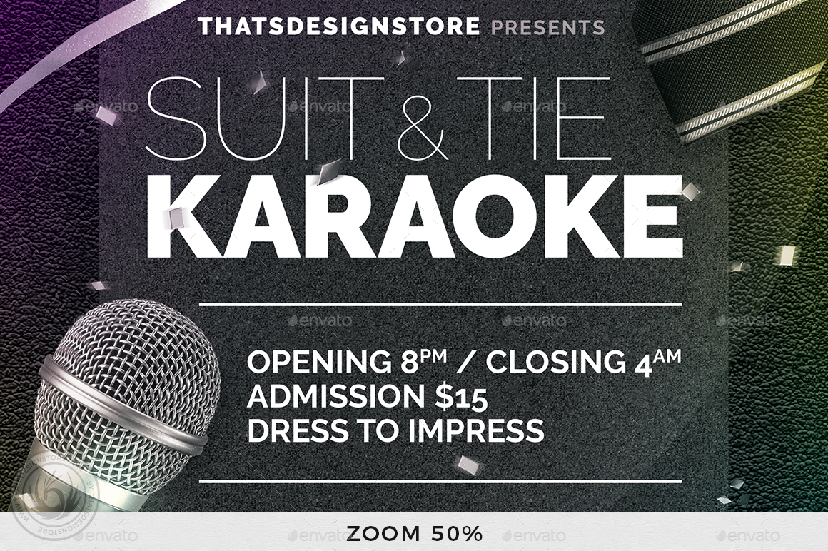 Classy Karaoke Flyer Template By Lou606 Graphicriver