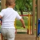 Boy Rolling Down the Hill on the Playground. Happy Child Playing - VideoHive Item for Sale
