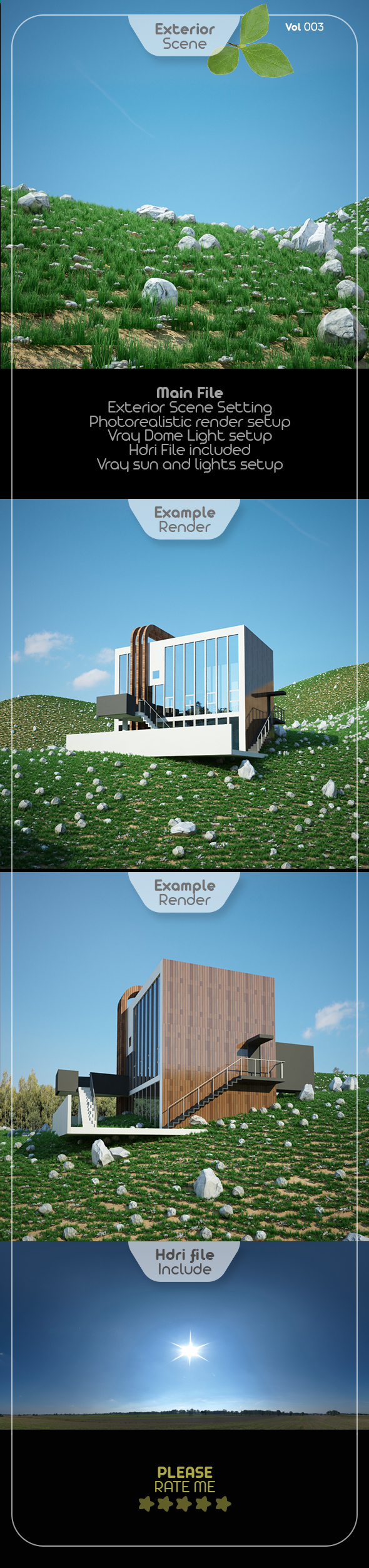Exterior Render Scene Set 003 - 3DOcean Item for Sale
