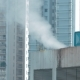 View of Steam on the Roof in the City - VideoHive Item for Sale